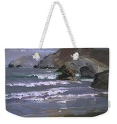 Morning Fog Shark Harbor - Catalina Island Weekender Tote Bag