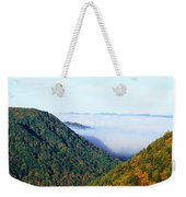 Morning Fog At Sunrise In Autumn Weekender Tote Bag