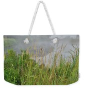 Morning Fog On Glacial Park Pond Weekender Tote Bag