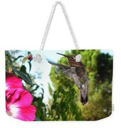 Morning Glories And Humming Bird Weekender Tote Bag