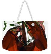 Morning Glory Canna Red Weekender Tote Bag