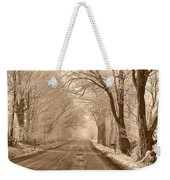 Morning Ice And Fog Weekender Tote Bag