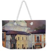 Morning In The Plaza- Quito, Ecuador Weekender Tote Bag