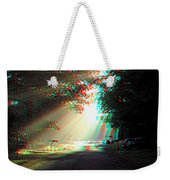 Morning Light - Use Red-cyan 3d Glasses Weekender Tote Bag