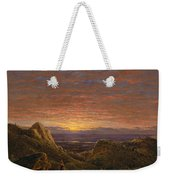 Morning Looking East Over The Hudson Valley From The Catskill Mountains Weekender Tote Bag