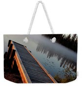 Morning Mist Over Lynx Lake In Northern Saskatchewan Weekender Tote Bag
