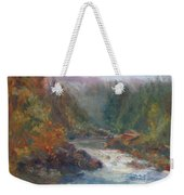 Morning Muse - Original Contemporary Impressionist River Painting Weekender Tote Bag