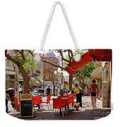 Morning On A Street In Tel Aviv Weekender Tote Bag