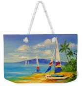 Morning On A Sunny Beach Weekender Tote Bag