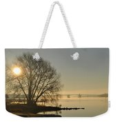 Morning On The Bay Bridge Weekender Tote Bag