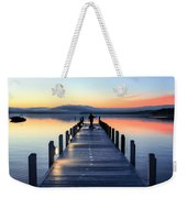 Morning Pier Weekender Tote Bag