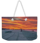 Morning Red Sky At Cape May New Jersey Weekender Tote Bag