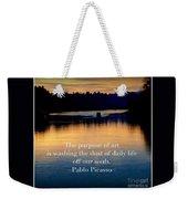 Morning River Run Weekender Tote Bag