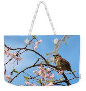 Morning Song Sparrow Weekender Tote Bag