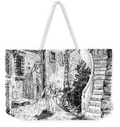 Morning Stroll In Montefioralle Tuscany Weekender Tote Bag
