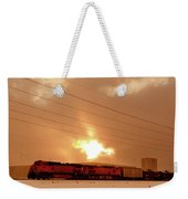 Morning Train 2 Weekender Tote Bag