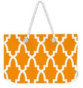 Moroccan Arch With Border In Tangerine Weekender Tote Bag