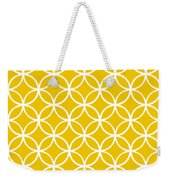Moroccan Endless Circles I With Border In Mustard Weekender Tote Bag