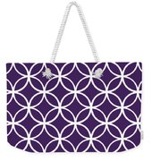 Moroccan Endless Circles I With Border In Purple Weekender Tote Bag