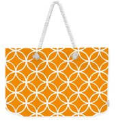 Moroccan Endless Circles I With Border In Tangerine Weekender Tote Bag