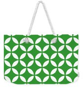 Moroccan Endless Circles II With Border In Dublin Green Weekender Tote Bag