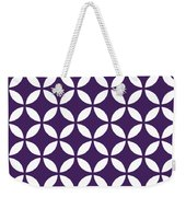 Moroccan Endless Circles II With Border In Purple Weekender Tote Bag
