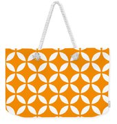 Moroccan Endless Circles II With Border In Tangerine Weekender Tote Bag