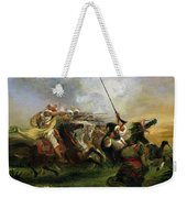 Moroccan Horsemen In Military Action Weekender Tote Bag