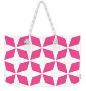 Moroccan Inlay With Border In French Pink Weekender Tote Bag