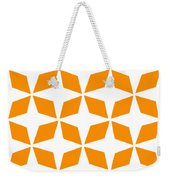 Moroccan Inlay With Border In Tangerine Weekender Tote Bag
