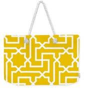 Moroccan Key With Border In Mustard Weekender Tote Bag