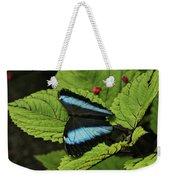 Morpho Butterfly Weekender Tote Bag