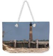 Morris Island Lighthouse Sea Wall Weekender Tote Bag