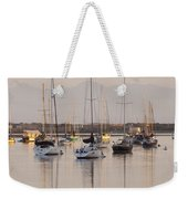 Morro Bay Boats In Early Morning Light   Weekender Tote Bag