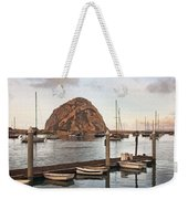 Morro Bay Small Pier Weekender Tote Bag