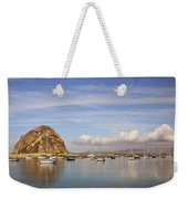 Morro Harbor And Rain Clouds Weekender Tote Bag