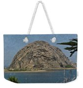 Morro Rock California Painting Weekender Tote Bag