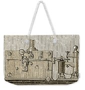 Morse Telegraph Machine, 1889 Weekender Tote Bag
