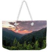 Morton Overlook Cloudy Sunset Weekender Tote Bag by Rima Biswas