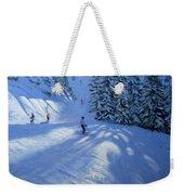 Morzine Ski Run Weekender Tote Bag