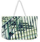 Mosaic And Iron Staircase La Quinta California Art District In Mint Tones Photograph By Colleen Weekender Tote Bag