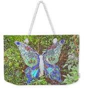 Mosaic Butterfly Weekender Tote Bag