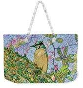 Mosaic Of Blue Jay Weekender Tote Bag