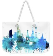 Moscow, Russia, Watercolor In Blue Weekender Tote Bag
