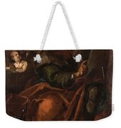 Moses Holding The Tablets Of Law Weekender Tote Bag