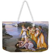 Moses Saved From The Waters Raffaello Sanzio Da Urbino Raphael Raffaello Santi Weekender Tote Bag