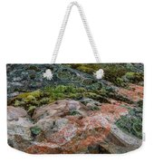 Moss And Lichen Abstract Weekender Tote Bag