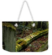 Moss Covered Fence Weekender Tote Bag