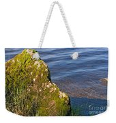 Moss Covered Rock And Ripples On The Water Weekender Tote Bag