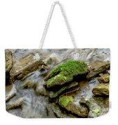 Moss Covered Rock Weekender Tote Bag